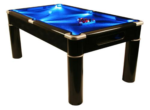 Its A Standard MDF Pub Sized Pool Table By Day But After Hour The Blue  LEDu0027scome Into Play Oozing Cool Blue Light Across The Playing Surface,now  That Really ...